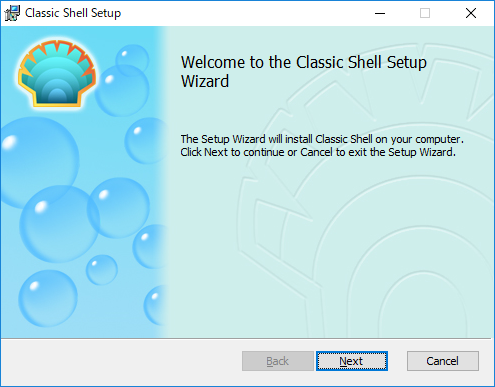 ClassicShell:インストール開始画面