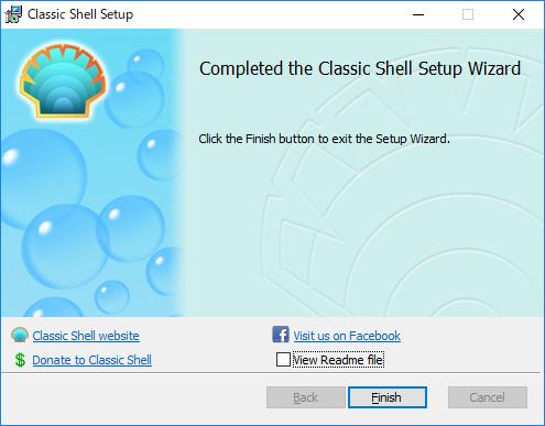 ClassicShell:インストール完了