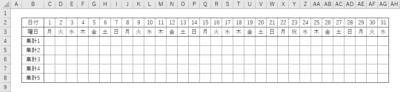 今回使用するサンプル表